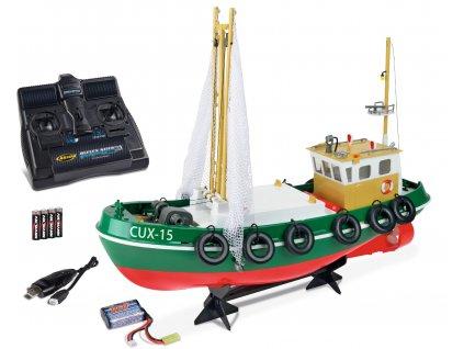 Rybárská loď Cux-15 so zdvíhacími sieťami, RTR