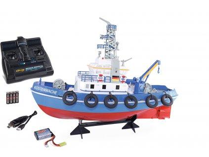 Pobrežná stráž Küstenwache, RC loď s funkčným vodným delom RTR sada