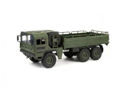 Obrnený RC vojnský Truck 1:16, 2,4 GHz, 6WD, nosnosť 500g, zelená