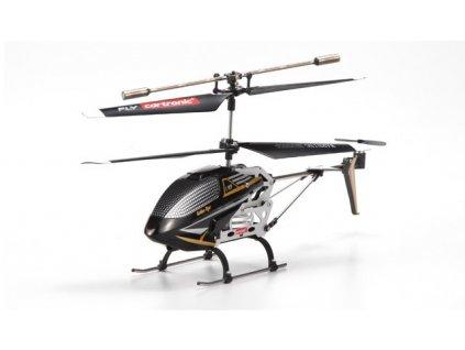 Rc vrtuľník HELI C 909, 2.4 GHz s gyroskopom, 2 rychlosti, LED,  RTF, čierna
