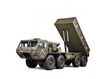 RC MilitaryTruck so sklápacou korbou 1:12 RTR zelený 8x8