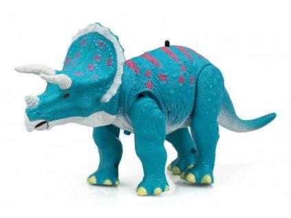 RC Dinosaurus Triceratops - modrý