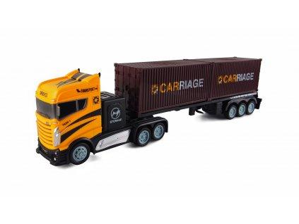 RC Kamión s kontejnerovým návesom 2WD, 1:16, bohaté príslušenstvo, semafór, radar, RTR