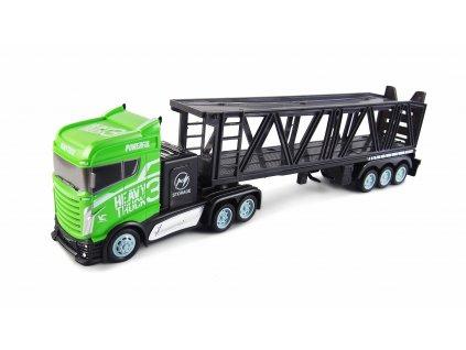 RC Kamión s autoprepravníkom 2WD, 1:16, bohaté príslušenstvo, semafór, radar, 3 autíčka, RTR
