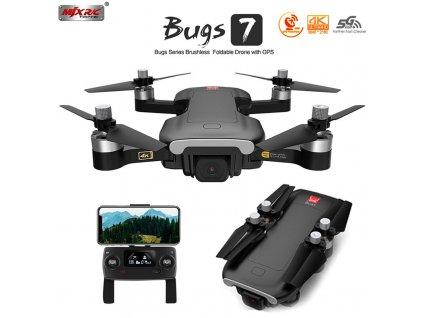 RC dron BUGS7W BRUSHLESS, 5 GHz, 4K, GPS, OPTICKÝ SENZOR, HMOTNOST 249g