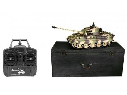 RC Tank TIGER II HENSCHEL BB 1:16 v drennom kufru