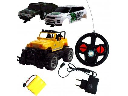 OVERLORD RC auto s akumulátormi a s tromi karosériami v balení