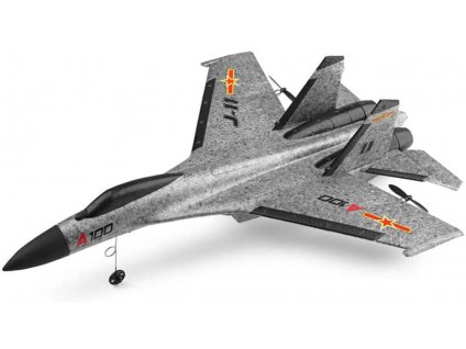 RC lietadlo SU-27  s 3D stabilizáciou a ovládanou výškovkou, 335mm, RTF, šedá
