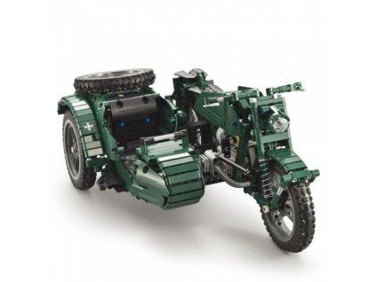 RC motorka so sajtňou - CADA bricks (629 dielikov)