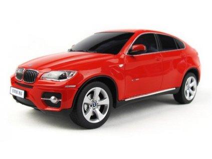 RC auto BMW X6 1:24 s licenciou, LED osvetlením, metalický lak, červená