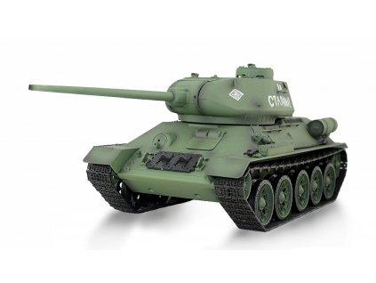 Airsoft RC Tank T34/85 BB+IR 2,4Ghz 1:16, RTR, dymový a zvukový modul, kovové prevodovky