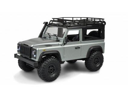 Rc auto D90 Rock Crawler Defender 1:12, 4WD, 2,4 GHz, LED,  RTR, strieborný