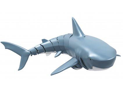 Diaľokovo ovládaný žralok SHARKY, modrý, 4 kanály, 2,4Ghz, RTR