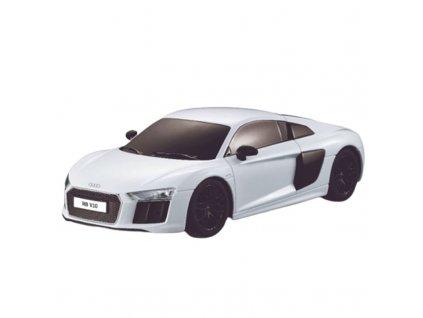Rc auto Audi R8 1:24, licence, LED, metalický lak, odpružené predné kolesá, biele