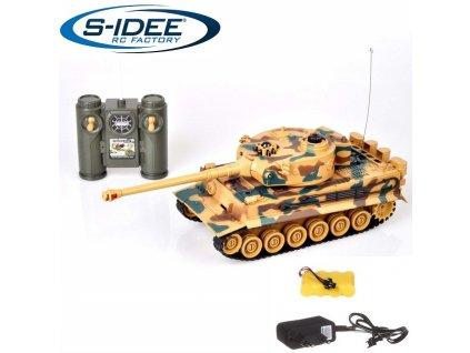 Bojující rc tank Tiger 1 2,4 GHz s infra delom 1:28