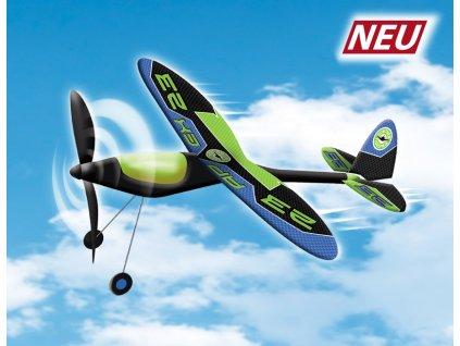 APEX lietadlo na gumu s oceľovou konštrukciou krídel 49x50 cm