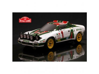 Závodné rc auto Lancia Stratos 1977 4WD 1:10 s lakovanou karoseriou, RTR sada