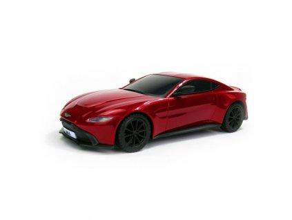 Licencovaný model Aston Martin VANTAGE, 1:24, LED, 100% RTR, červený