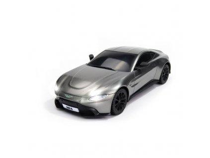Licencovaný model Aston Martin VANTAGE, 1:24, LED, 100% RTR, strieborný