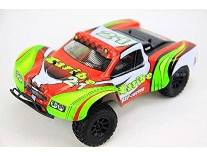 Rc auto Caribe HSP racing 4WD, 1:18, proporcionálne ovládanie, RTR, červená
