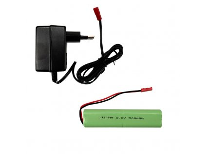 Set AKU 9,6V / 500 mAh + sieťový nabíjač, pre US MAxxPro 2WD MRAP 1:16 Torro