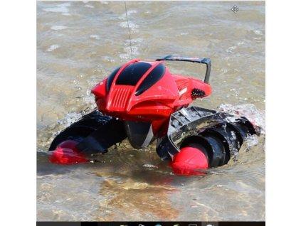 RC Obojživelník Amphibious Stunt Car - červený