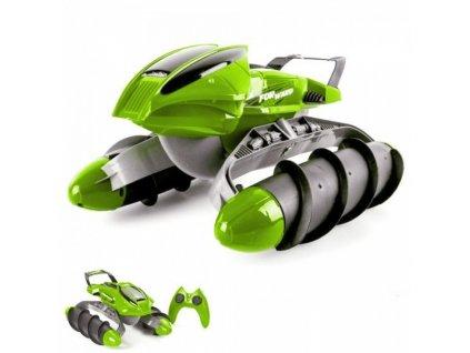 RC Obojživelník Amphibious Stunt Car - zelený