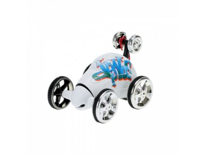Bláznivé autíčko na diaľkové ovládanie - biele