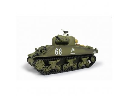 Rc tank SHERMAN M4A3 BB+IR 2,4Ghz 1:16, zvuk, dym, RTR