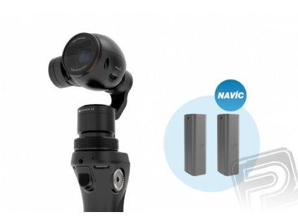 DJI OSMO + mikrofón FM-15 FlexiMic + 2 batérie