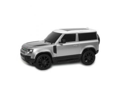 Rc auto Land Rover Defender 90, 1:24, 2,4 GHz, LED, 100% RTR, strieborná metalíza