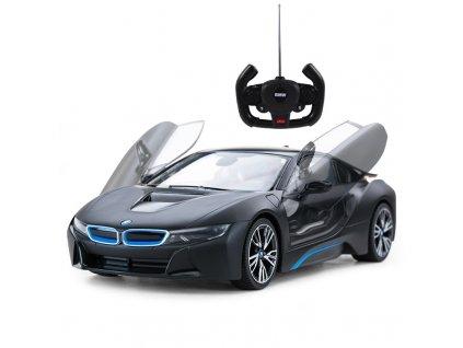 Licencované rc auto BMW i8 1:14, čierny metalický lak