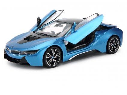 Rc auto BMW i8 1:14, RASTAR, LED svetlá a metalický lak, modré