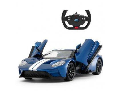 Rc auto Ford GT 1:14, LED osvetlenie, metalický lak, modrá farba