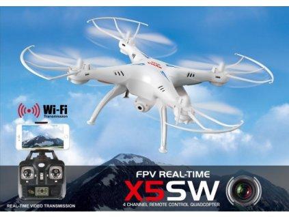 Dron Syma X5SW s FPV online prenosom cez WiFi, biely