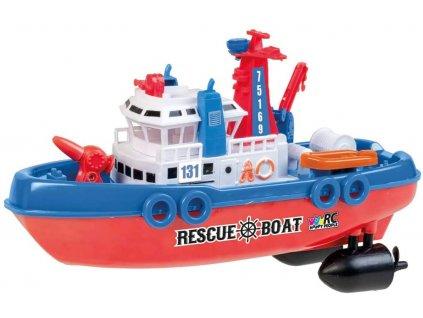 Záchranárska Rc loď RESCUE BOAT 131, 27 MHz, plnohodnotné RC ovládanie