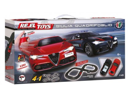 Autodráha Re.el toys Alfa Romeo Giulia Quadrifoglio 4v1