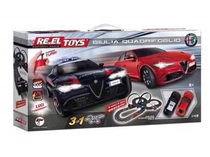 Autodráha Re.el toys 3v1 Alfa Romeo Giulia Quadrifoglio 6m