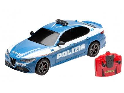 Rc auto Alfa Romeo Giulia Policie, licence 1:18, RC 2.4GHz