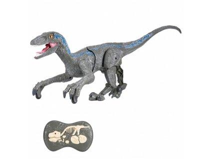 RC dinosaurus VELOCIRAPTOR II. - šedý