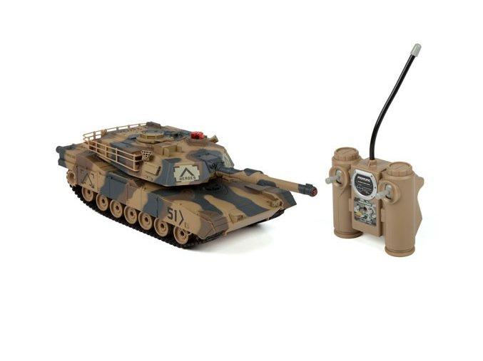 RC tank Abrams 1:24 - infra strely 2,4Ghz