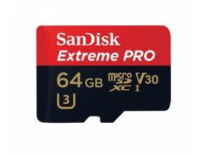SANDISK EXTREME PRO MICROSDXC 64GB s sd adaptérom