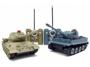 Sada bezpečných tankov German Tiger a Ruský T34 1:32 2.4GHz