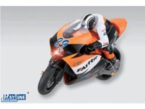 RC motorka R29 s Gyroskopom ORANŽOVÁ