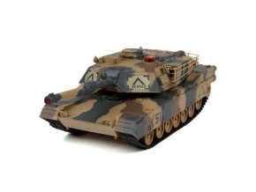 RC tank Abrams 1:24 - infra strely 27MHz a, 40MHz