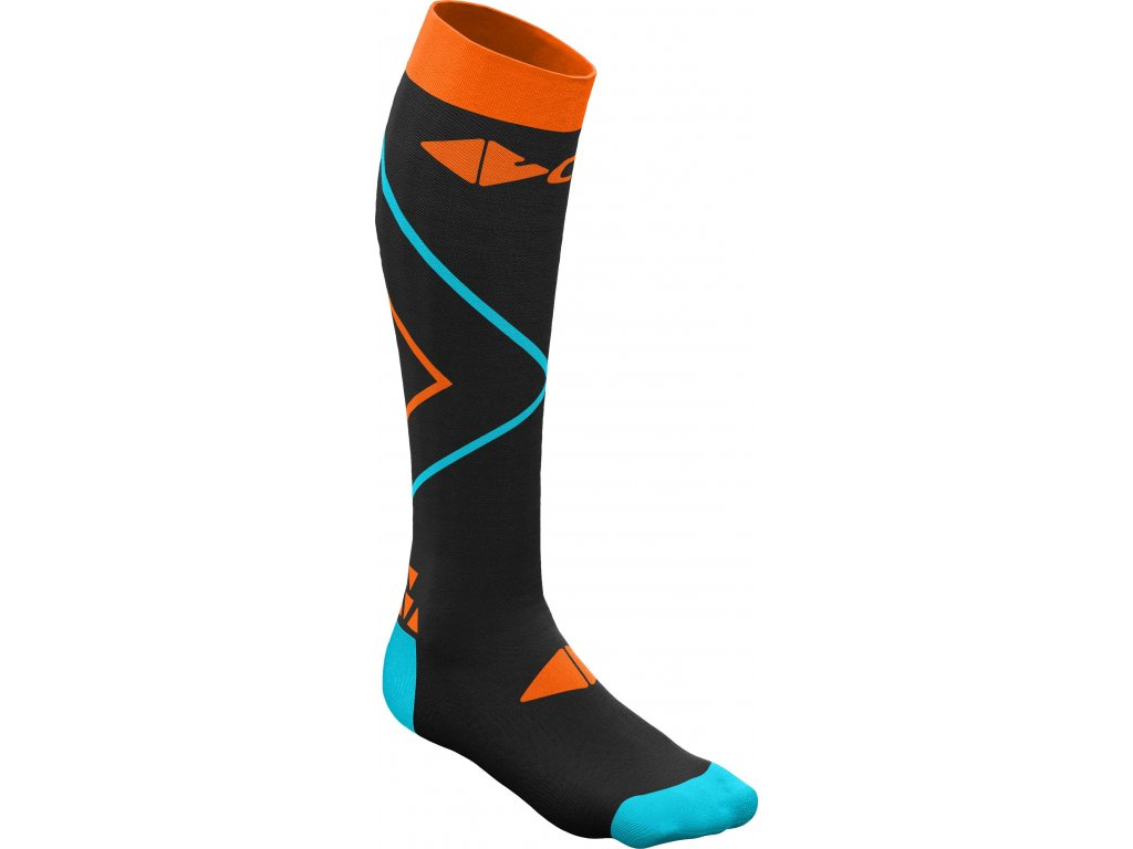 W19386018X Socks Crazy Compression 01 Of Black Orange