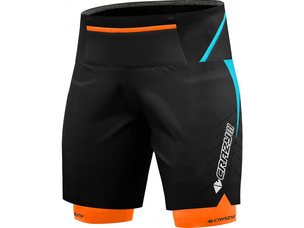 S20015219U 00 Short Flash Trail Man 24 LG Laguna Orange Fluo