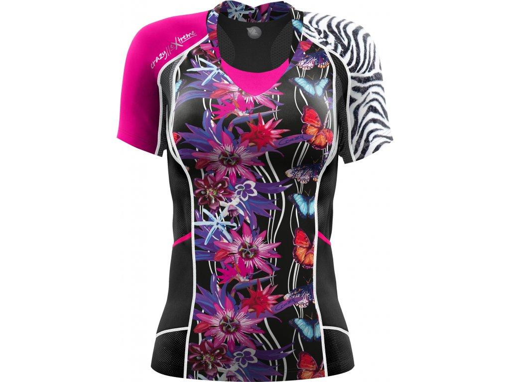 S20095068D T Shirt Kinsej Woman X074 Butterfly Black