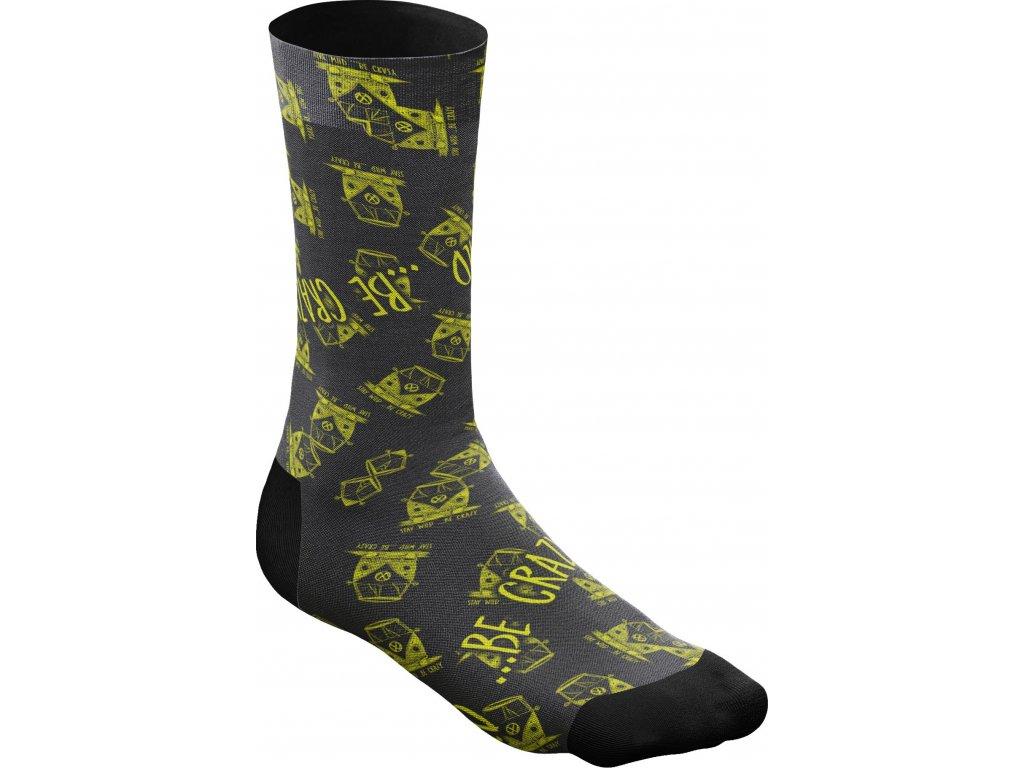 S20385005X Crazy Socks 01 Black