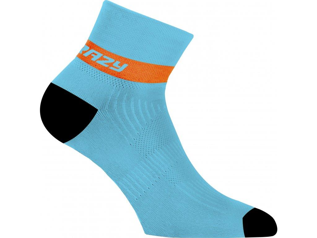 S20385002X 00 Crazy Carbon Socks 24 LG Laguna Orange